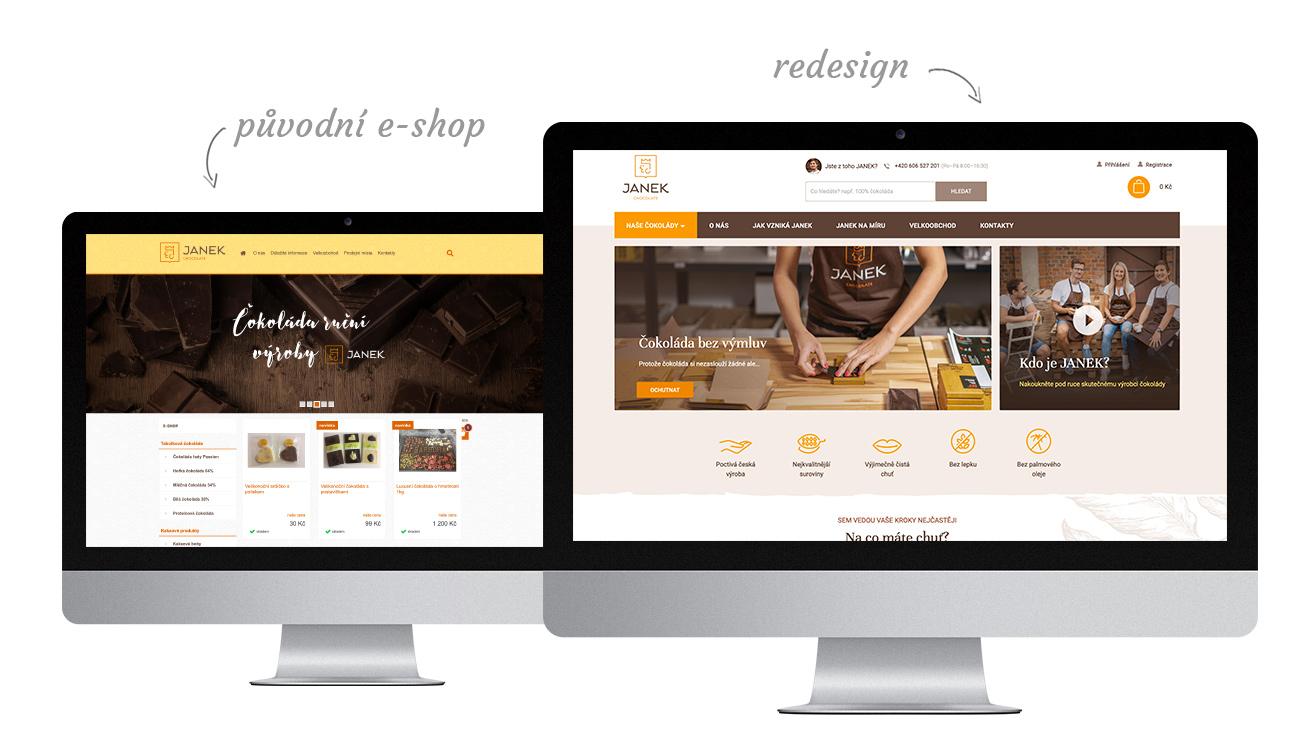 Re-design e-shopu