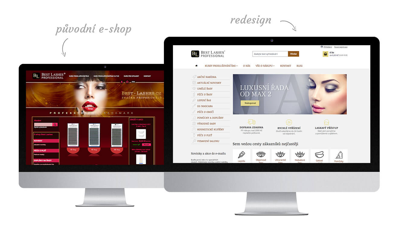 Re-design e-shopu