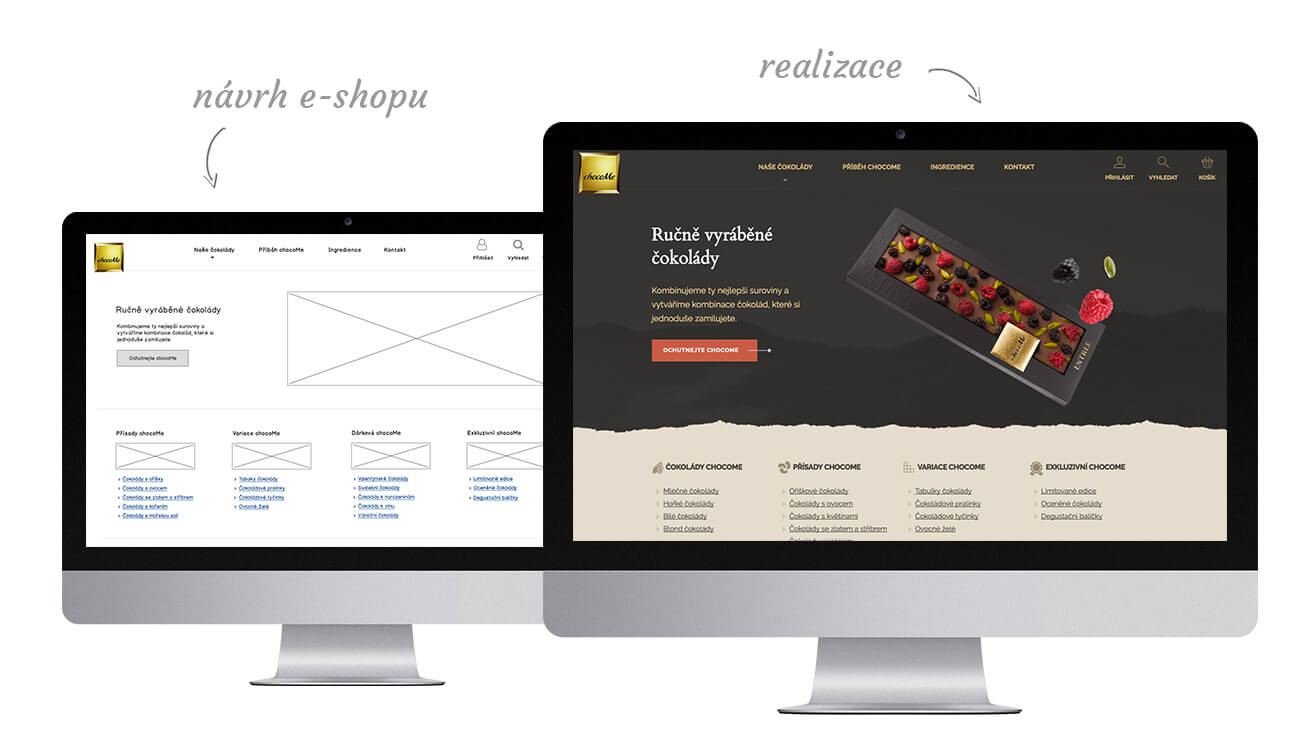 Re-design e-shopu chcocome